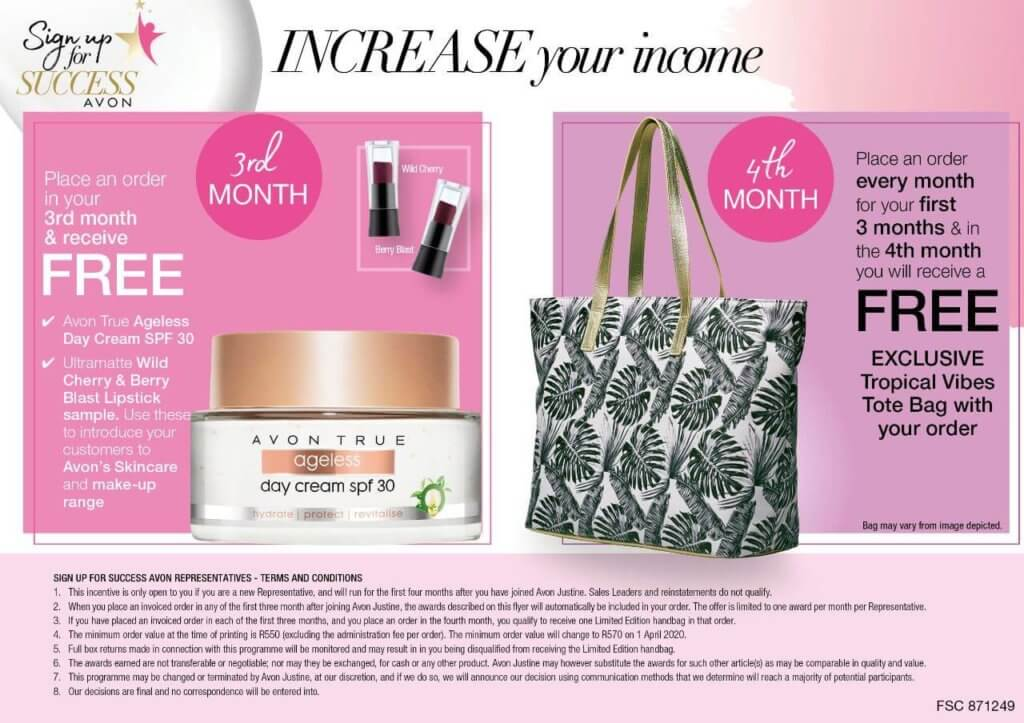 Avon Free Products month 3 and 4